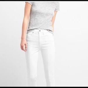 NWT Gap True Skinny Super High Rise White Jeans